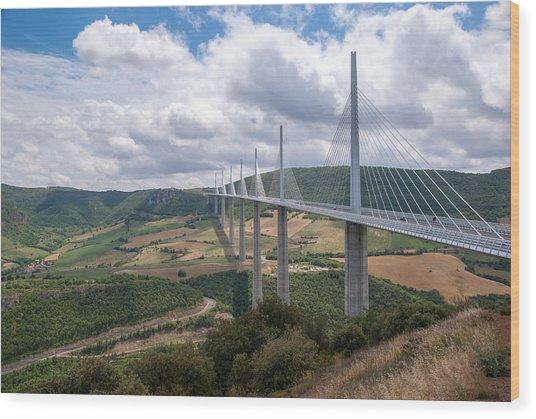 Millau Viaduct Wood Print