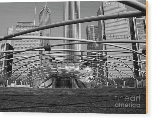 Millennium Park Iv Visit Www.angeliniphoto.com For More Wood Print