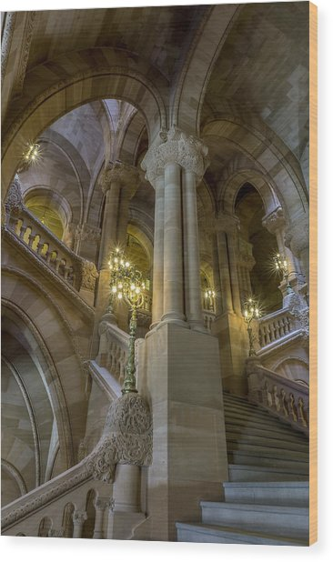 Million Dollar Staircase Wood Print