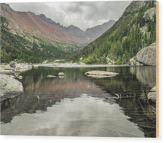 Mill's Lake View Wood Print