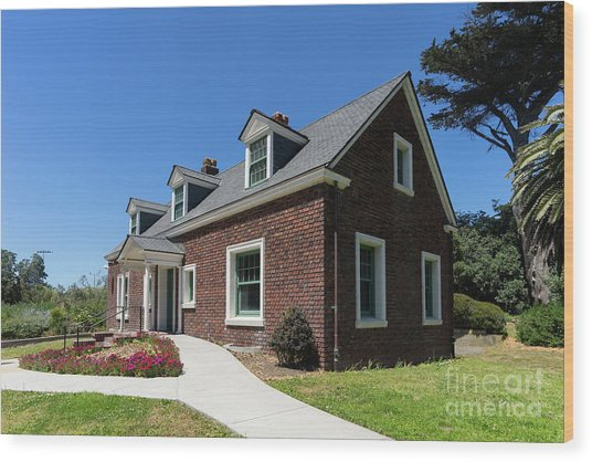 Millwright's Cottage At The Murphy Windmill San Francisco Golden Gate Park San Francisco Ca Dsc6346 Wood Print