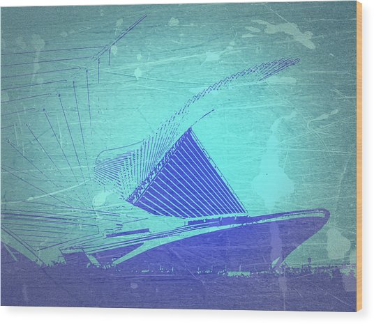 Milwaukee Art Museum Wood Print by Naxart Studio