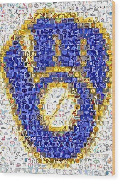 Milwaukee Brewers Mosaic Wood Print