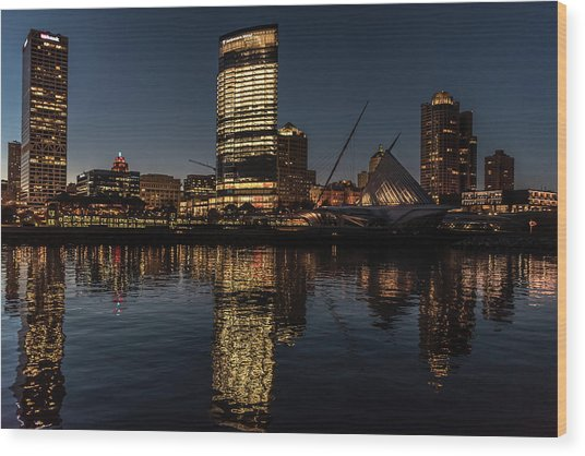Milwaukee Reflections Wood Print