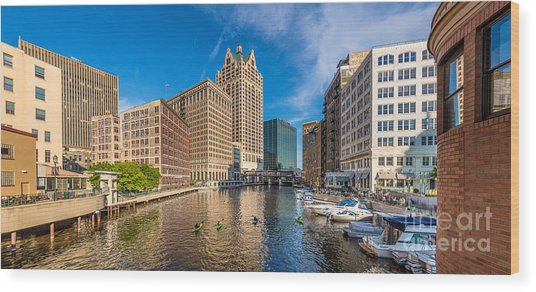 Milwaukee Summer Nights Wood Print
