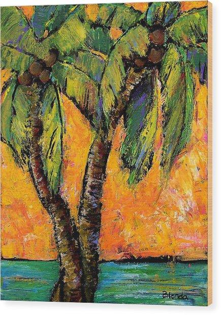 Mimosa Sky Palm Wood Print