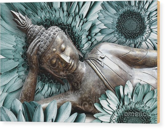 Mind Bloom Wood Print