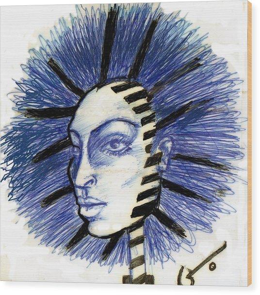 Mind Blowing Wood Print by Agatha Green
