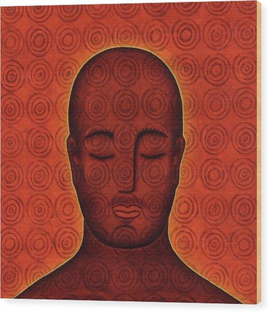 Mind Circles Wood Print