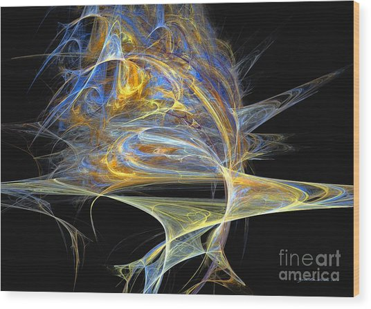Wood Print featuring the digital art Mindblow by Sipo Liimatainen
