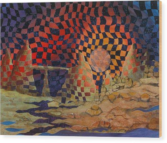 Mindscape Wood Print by Linda L Doucette