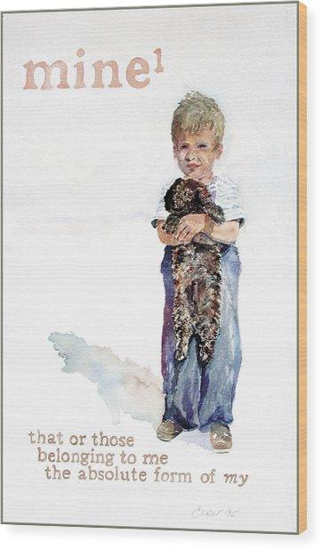 Mine Wood Print by Janice Crow