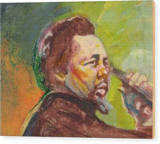 Mingus Wood Print by Michael Facey