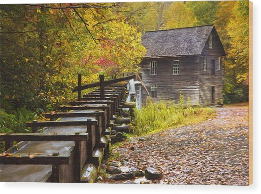 Mingus Mill Painted Wood Print