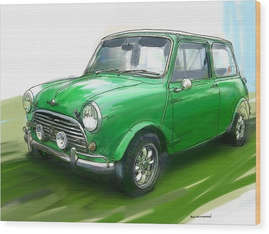Mini Cooper Painting By Rg Mcmahon
