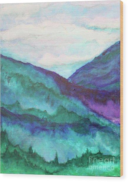 Mini Mountains Majesty Wood Print