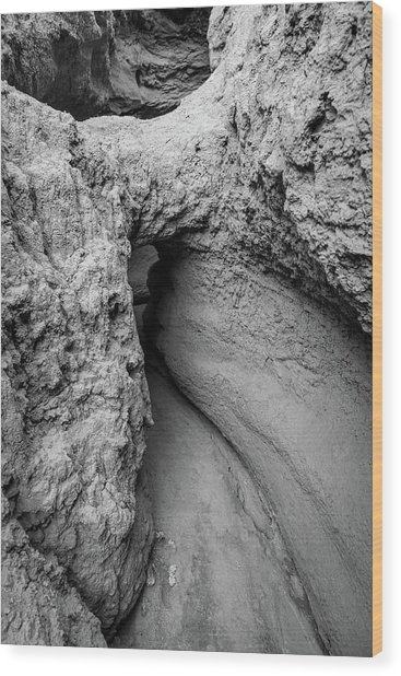 Mini Mud Cave Wood Print