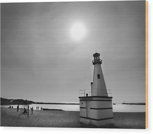 Miniature Lighthouse Wood Print