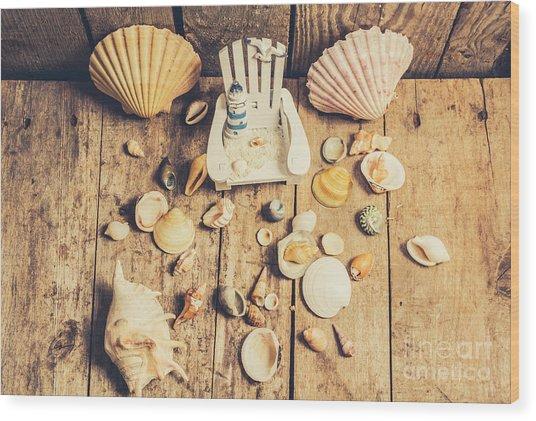 Miniature Sea Escape Wood Print