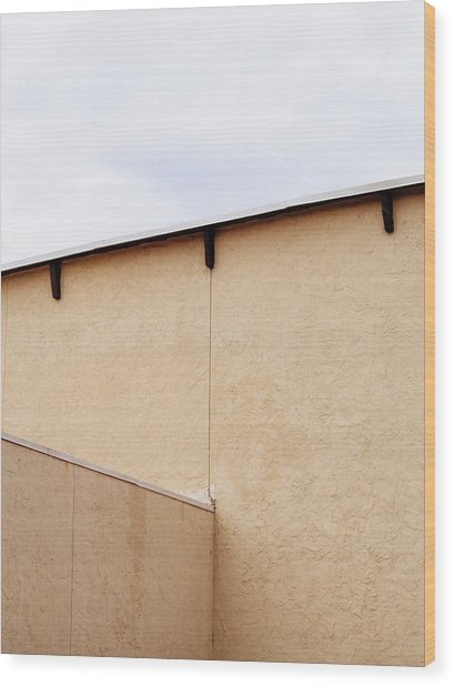 Minimal Fine Art Architecture Wood Print by Dylan Murphy