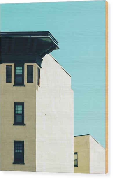 Minimalist Architecture Photo Wood Print by Dylan Murphy
