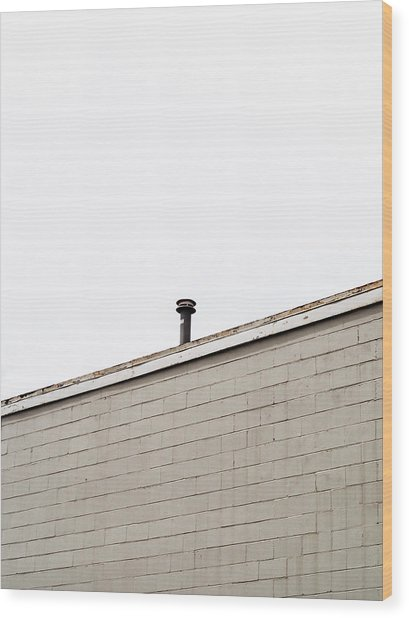 Minimalist Architecture Photography Wood Print by Dylan Murphy