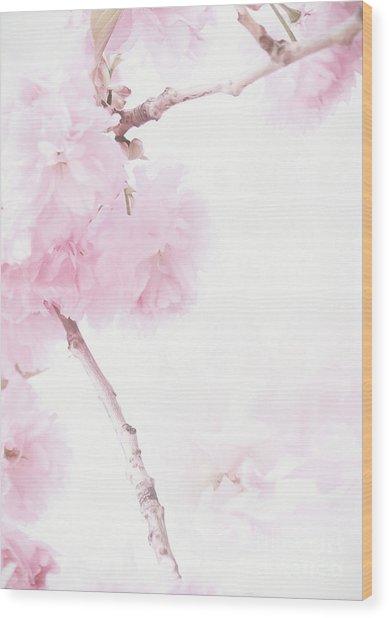 Minimalist Cherry Blossoms Wood Print