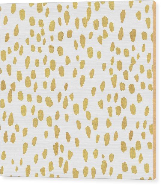 Minimalist Is Gold Wood Print