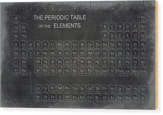 Minimalist Periodic Table Wood Print