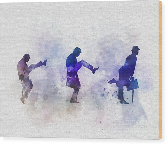 Ministry Of Silly Walks Wood Print