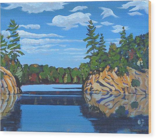 Mink Lake Gap Wood Print
