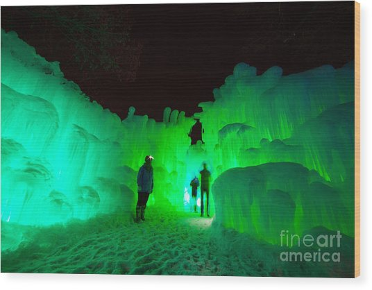 Ice Castles Of Minnesota Wood Print