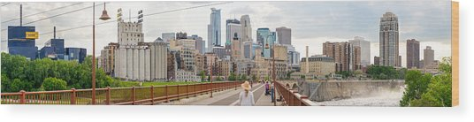Minneapolis Milling District Wood Print