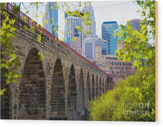 Minneapolis Stone Arch Bridge Photography Seminar Wood Print