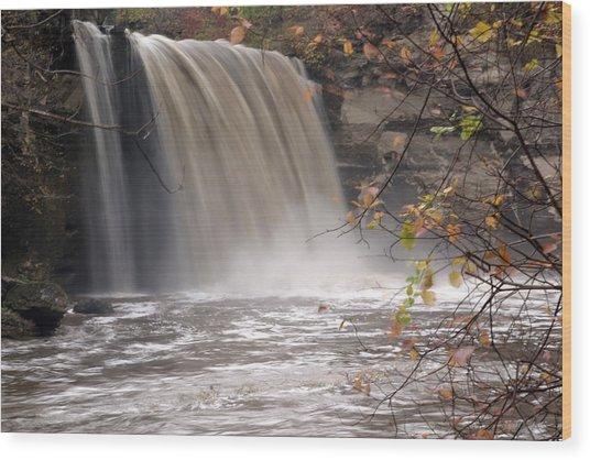 Minnehaha Falls  Mankato Minnesota Wood Print
