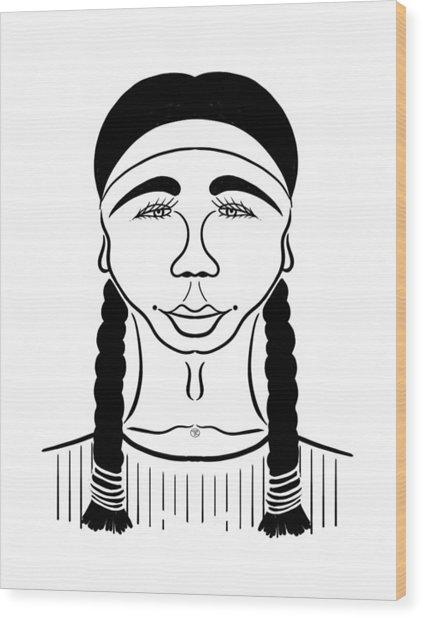 Minnehaha Wood Print