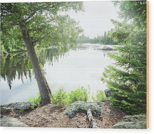 Wood Print featuring the photograph Minnesota Boundary Waters by Whitney Leigh Carlson