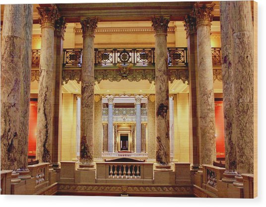 Minnesota Capitol Supreme Court Wood Print