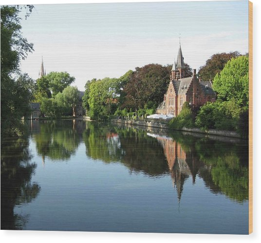 Minnetwaterpark Bruges Wood Print by David L Griffin