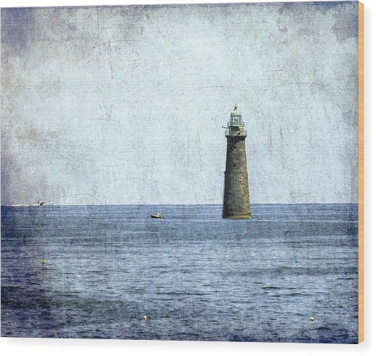 Minot Ledge Light Wood Print
