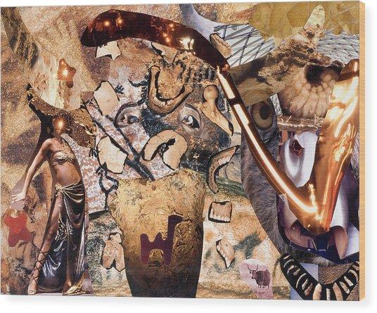 Minotauros Wood Print by Christoph Fuhrken