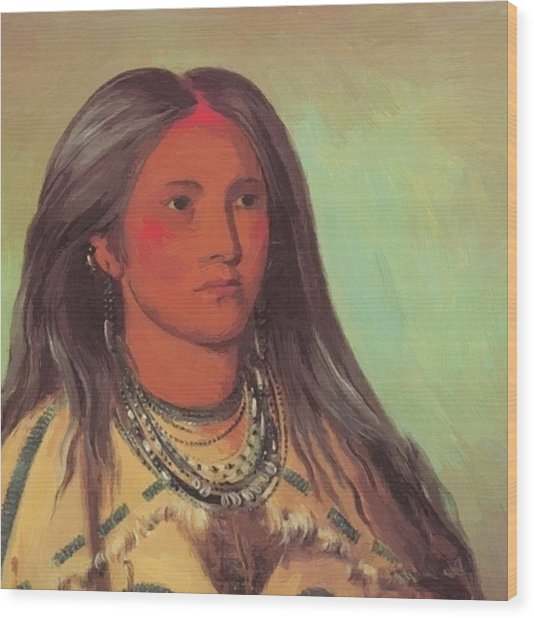 Mint A Mandan Girl 1832 Wood Print