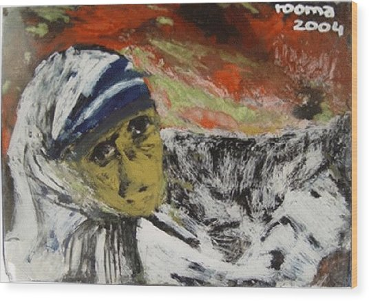 Miracle Mother Wood Print by Rooma Mehra