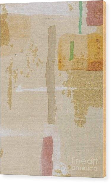 Wood Print featuring the mixed media Mirage by Writermore Arts
