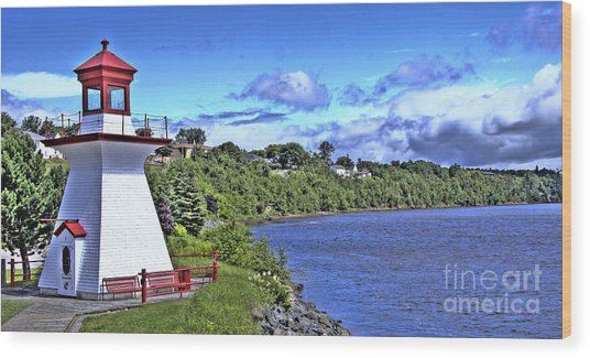 Miramichi Lighthouse Wood Print by Levin Rodriguez