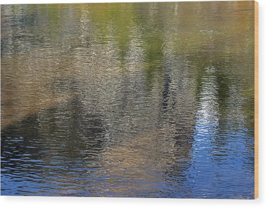 Mirror Lake Reflections 04 13 Wood Print by Walter Fahmy