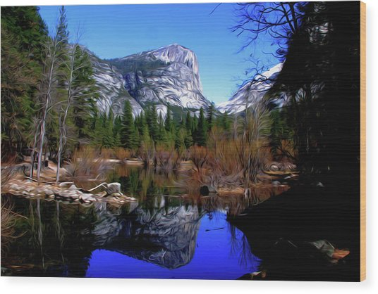 Mirror Lake Wood Print