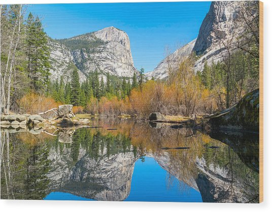Mirror Lake Yosemite Np Wood Print