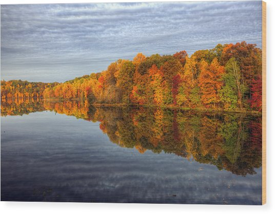 Mirror Mirror On The Fall Wood Print
