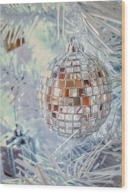 Mirror Tree Ornament Wood Print